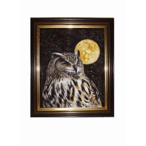 Картина из янтаря Филин