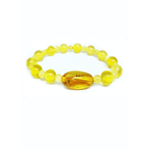 Браслет из янтаря с лимоном