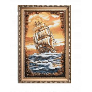 Картина из янтаря Корабль