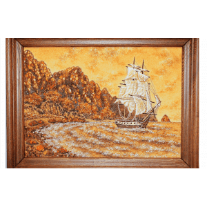 Картина из янтаря Парусник
