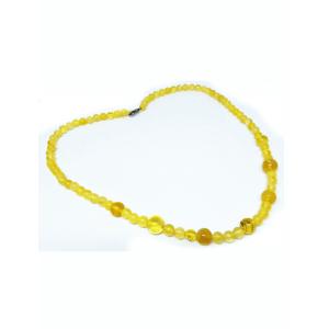 Бусы из натурального лимонного янтаря