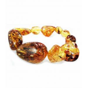Браслет из янтаря с крупными камнями
