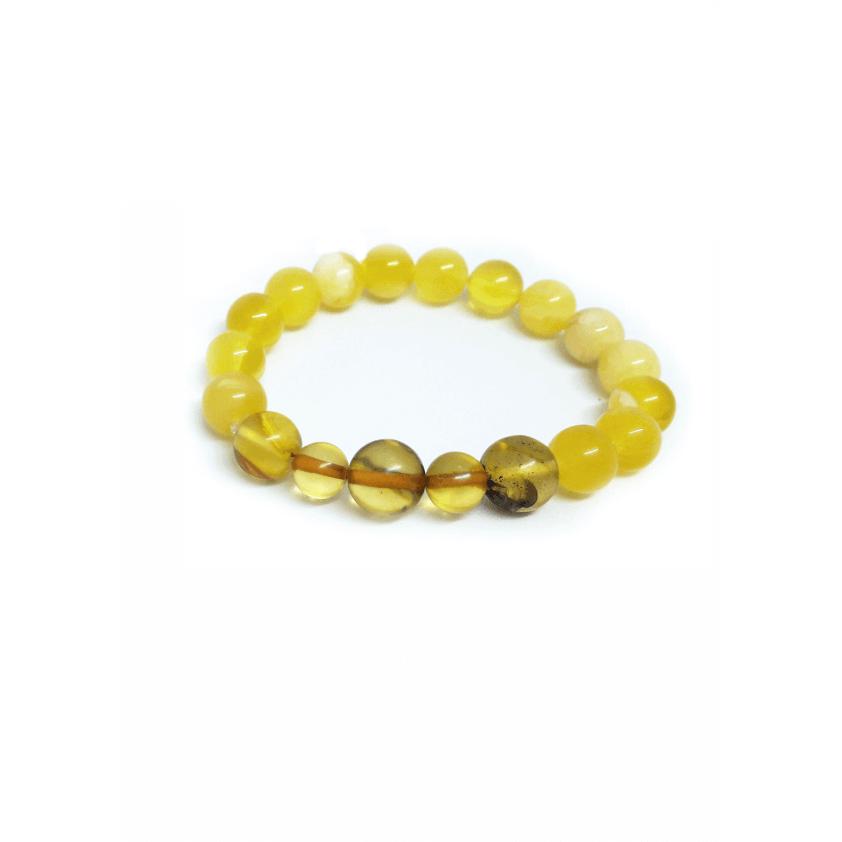 Браслет медово-лимонный из янтаря