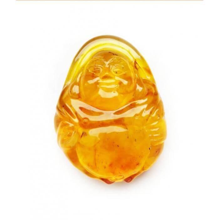 Сувенир Будда лимонного янтаря