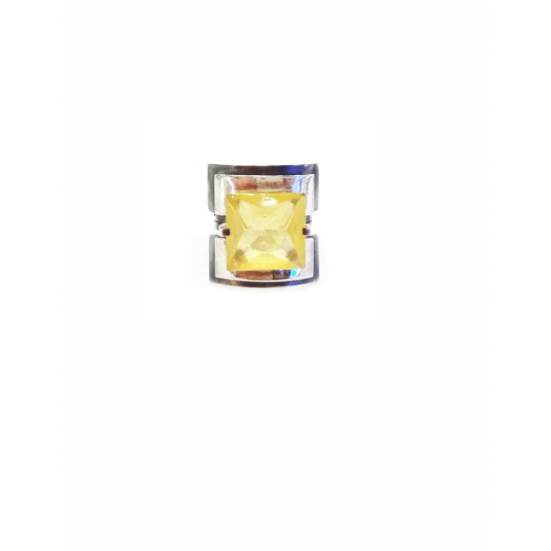 Кольцо с натуральным граненым янтарем