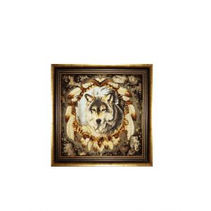 Картина из янтаря Волк