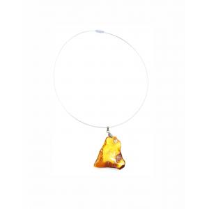 Кулон-инталия из янтаря