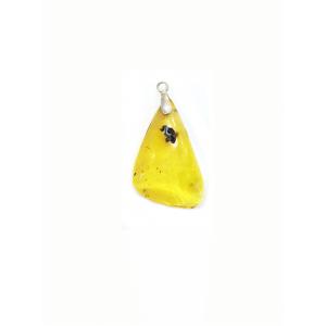 Кулон природной формы лимонный