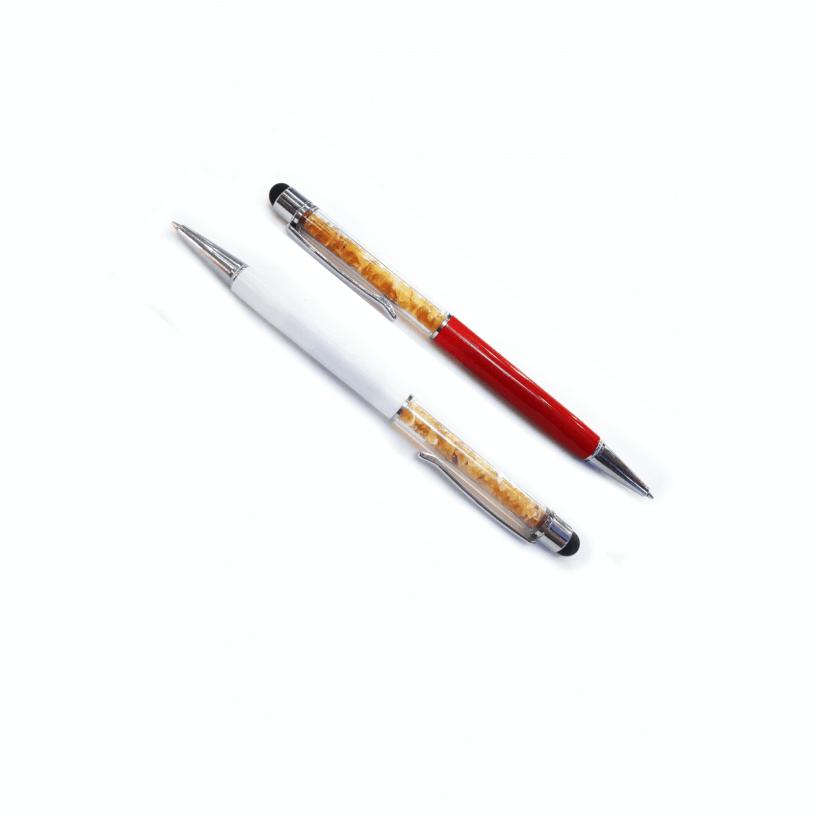 Ручка с янтарем красного или белого цвета