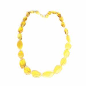 Бусы янтарные природной формы лимон