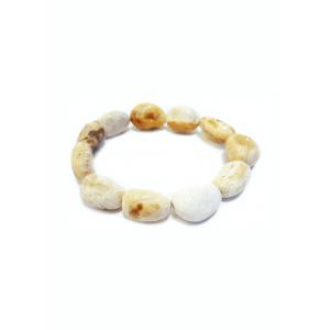 Лечебный браслет из белого янтаря