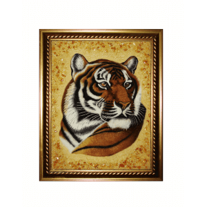 "Картина из янтаря ""гордый тигр"""