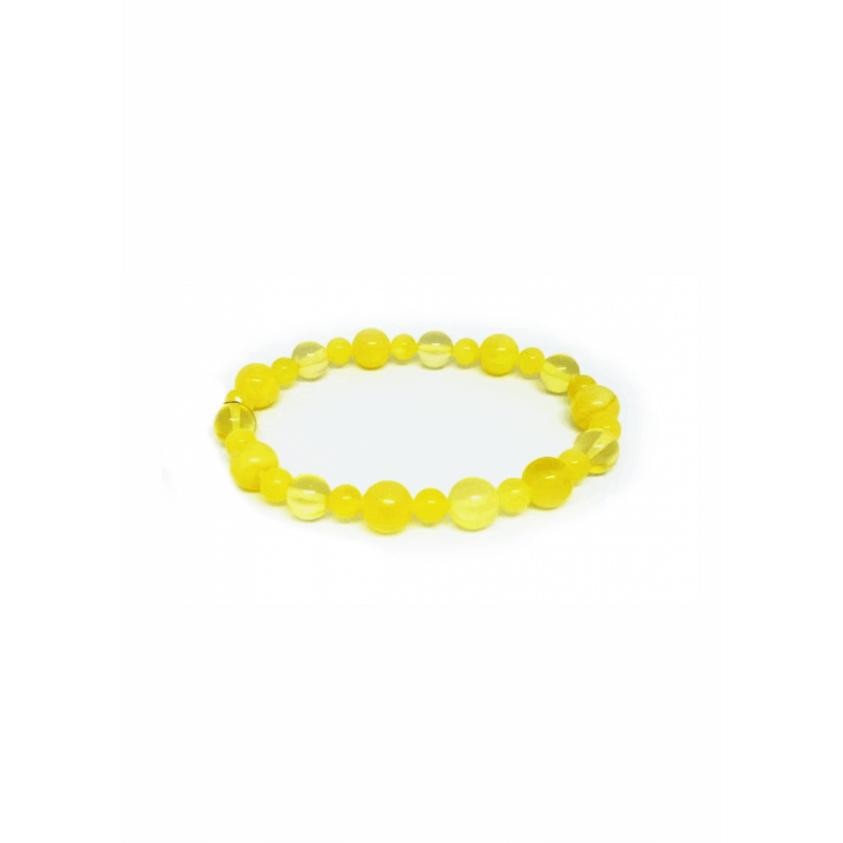 Браслет медовый лимон из янтаря