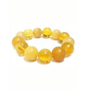 Браслет из медового и лимонного янтаря