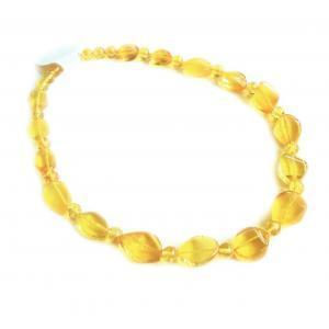 Лимонное колье из янтаря