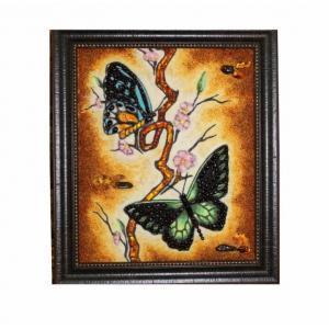 """Картина из янтаря""""Бабочки"""""""