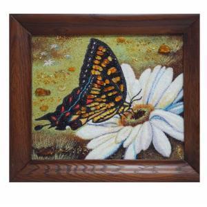 "Картина из янтаря""Бабочка"""