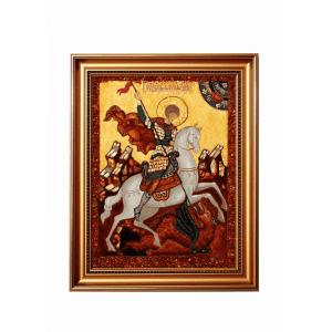 Икона из янтаря Георгий Победоносец