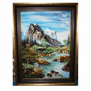 "Картина из янтаря""Горная река"""