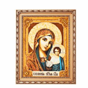 Икона из янтаря Богоматерь Казанская