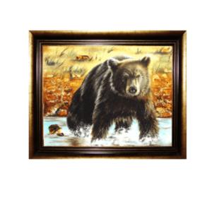 Картина из янтаря Медведь