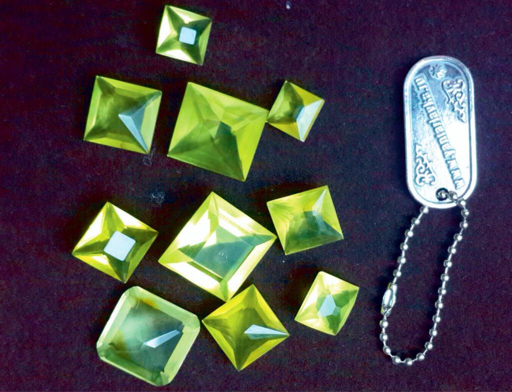 Граненый лимонный янтарь