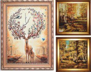 живые картины из янтаря