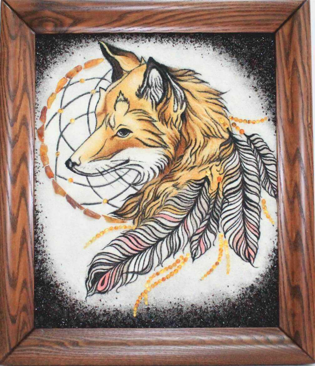 Лис - ловец снов из янтаря