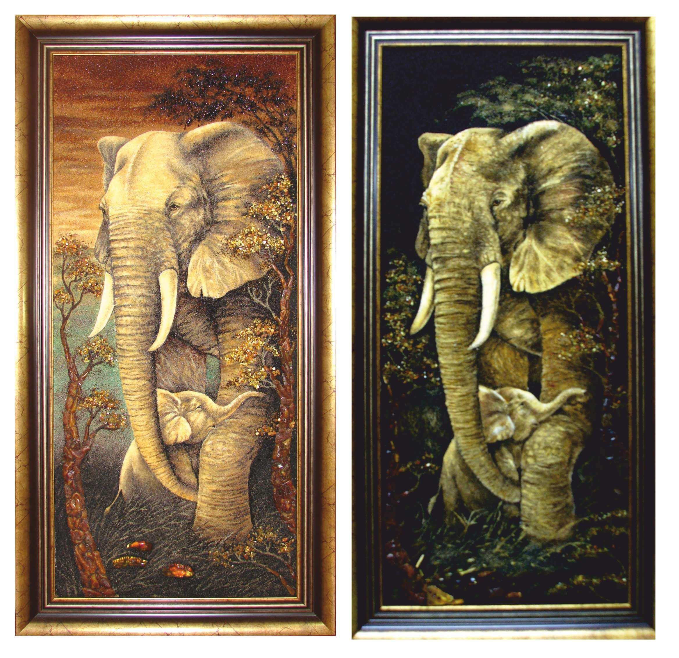 Слоновье покровительство из янтаря