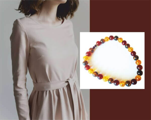 Янтарная радуга цвета бусы из янтаря