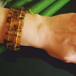 "Зеленый ""Люкс"" браслет из янтаря"