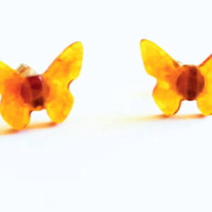 "Серьги из янтаря ""Бабочки"""