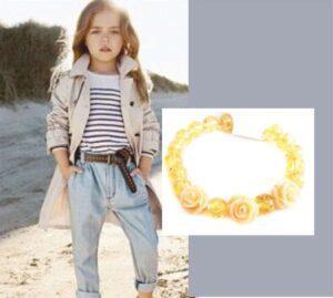 Детский браслет из янтаря Роза