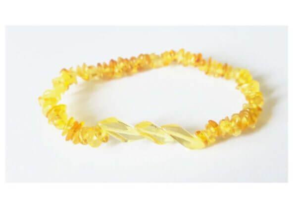 """Лимонный браслет из янтаря """"Стиль"""""""