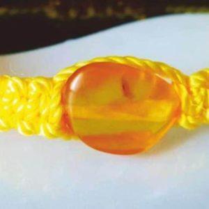 Шамбала с янтарем желтая.