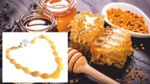 Бусы из балтийского янтаря Сладкий Мёд
