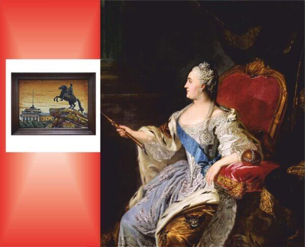"""Картина из янтаря""""Медный всадник"""