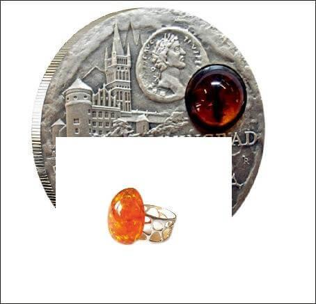 "Кольцо ""Зоя"" из янтаря"