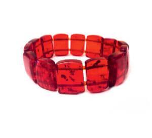 Браслет из красного янтаря - Темп