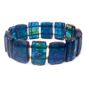 Темп браслет из синего янтаря