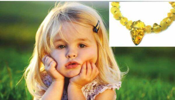 Детский браслет из янтаря