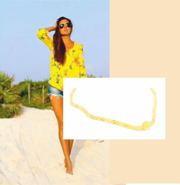 бусы из янтаря «Обаятельный лимон»