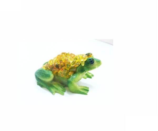 Лягушка с янтарем