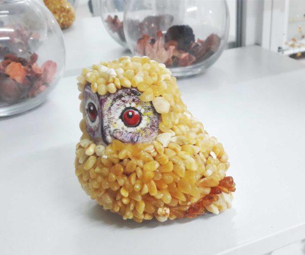 Полярная сова в янтаре