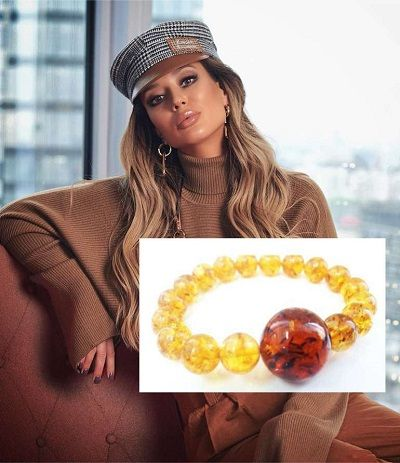Браслет из янтаря лимонный с крупным шаром
