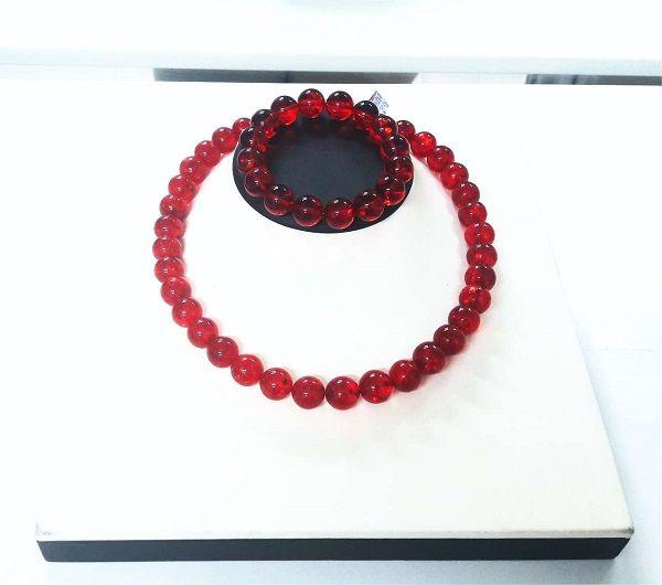 Кровь дракона комплект красный янтарь