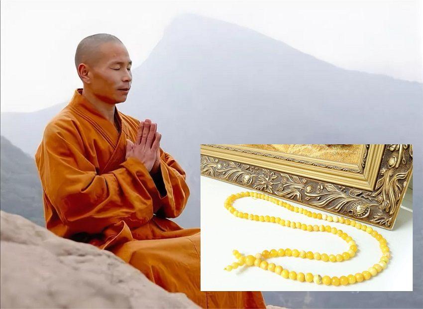 буддистские четки из янтаря